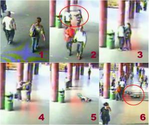 Fasi dell'aggressione alla metropolitana di Roma